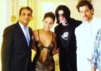 Hrithik Roshan, Barbara Mori with Michael Jackson
