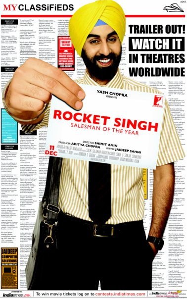 rocket singh Overall rating: 325 /5 from all the reviews on the web list of rocket singh salesman of the year review showing 8 reviews ratings: 35/5 reviewer: rajeev masand site:ibnlive like swades and lage raho munnabhai which came before it, rocket singh: salesman of the year is a film about the importance of basic goodness.