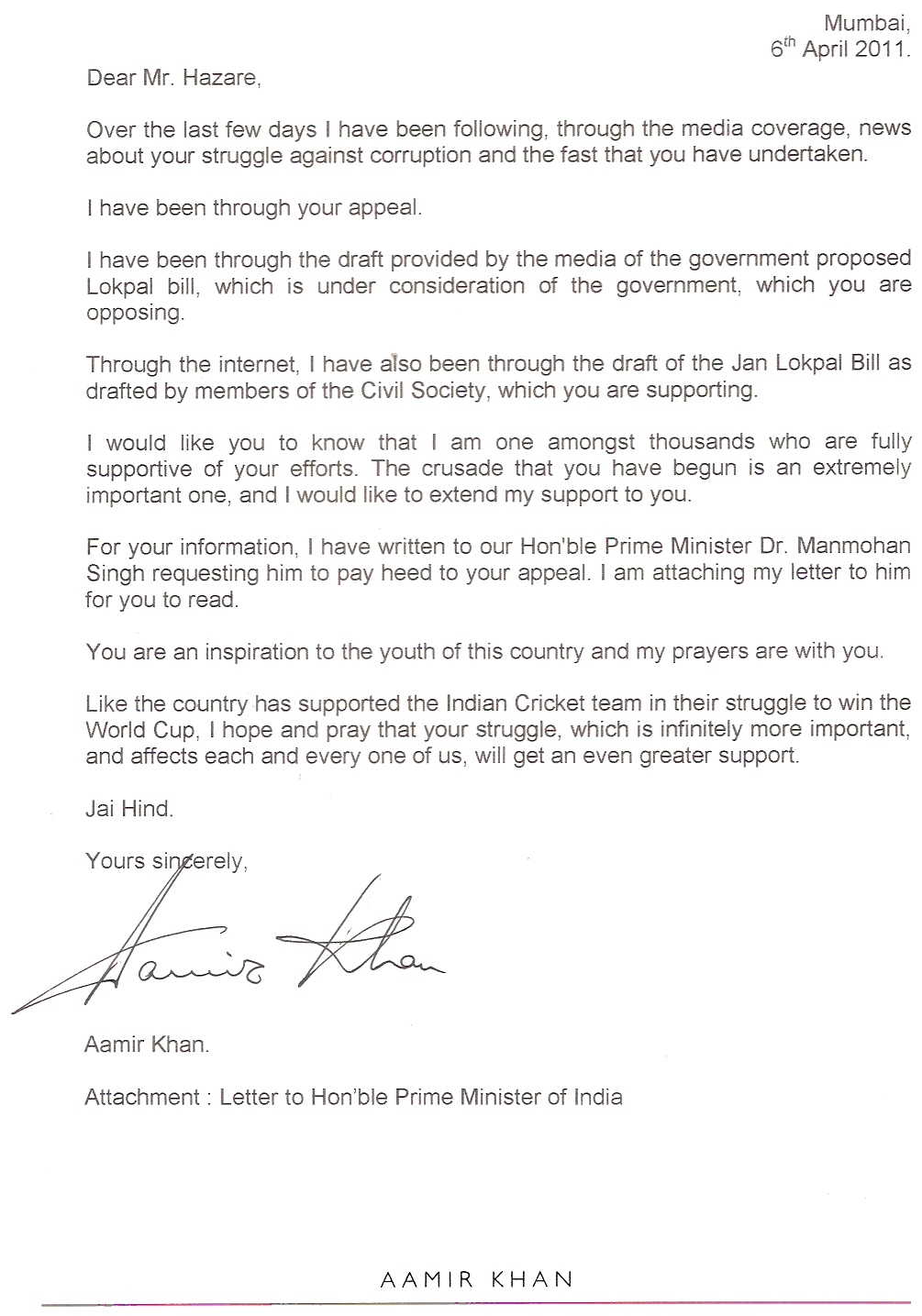 Aamir Khans Letter To Pm And Anna Hazare Fight Club