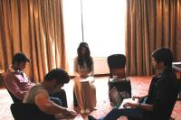 Scene Rehearsal session with the actors - Sara Jane Dias with actors from FTII