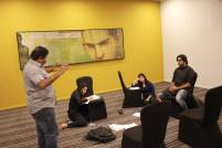 Scene Rehearsal session with the director (participant) and actors from FTII