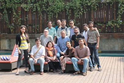 Udayan Prasad with Marten Rabarts and 12 participants
