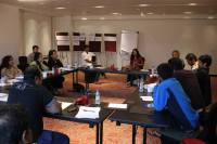 Udayan with Adil, Tannishtha, participants, and mentors
