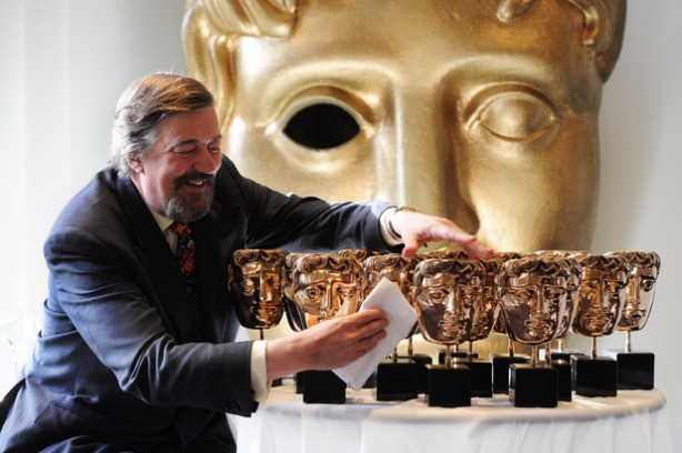 movies-bafta-stephen-fry-with-trophies