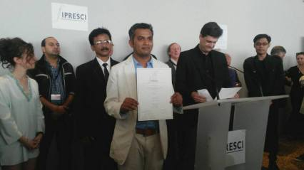 Neeraj receiving FIPRESCI