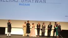 Masaan Cast on stage