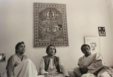 Soumitra and Ray at Ravi Shankar's residence, Benares 1978
