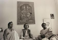 Soumitra and Ray at Ravi Shankar's residence, Benares 1978