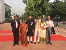 Neeraj Ghaywan and Varun Grover with their parents