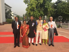 Neeraj Ghaywan and Varun Grover with their parents