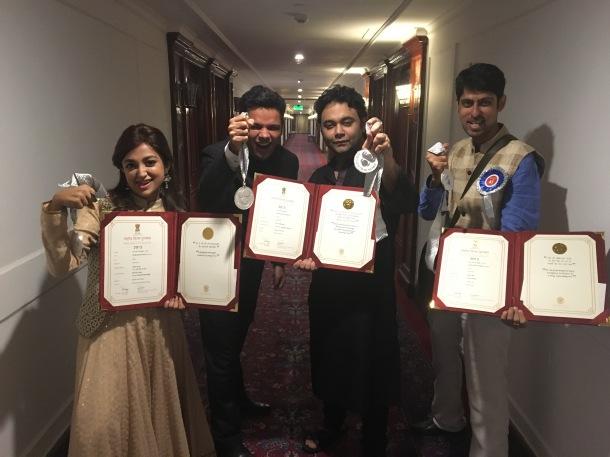 Varun grover with Team DLKH