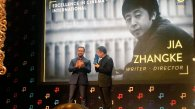Jia Zhangke getting Excellence In Cinema Award