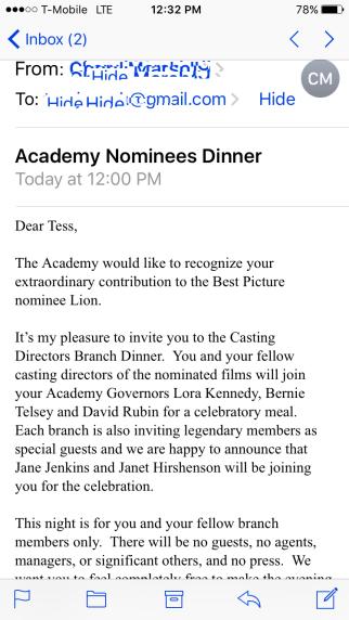 Academy Awards Nominee Dinner